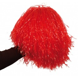 Pompon rouge Pom pom girls avec poignée noire