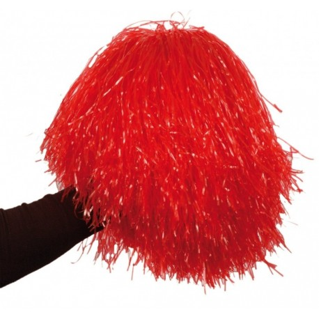 pompon-rouge-pom-pom-girls-avec-poignee-noire