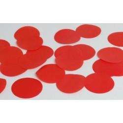 Confettis de scène ronds rouges 100 gr
