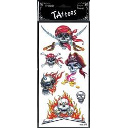 6-tatouages-de-pirate-tetes-de-morts-livre-en-flammes-sabre