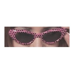 lunettes-annees-60-roses-petits-pois-noirs