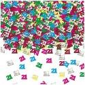 Confettis de table 21 ans à fêter Sachet de 14gr