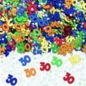 Confettis de table 30 multicolores métallisés Sachet de 14gr