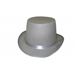 haut-de-forme-gris-ruban-gris-13-cm