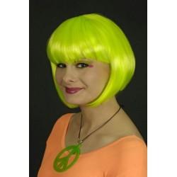 perruque-foxy-vert-fluo-carre-courte-fluorescente