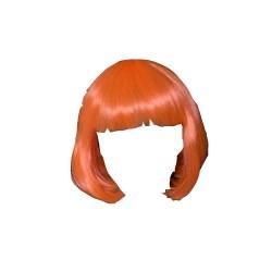 perruque-foxy-orange-fluo-carre-court-fluorescente