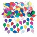 Confettis de table ballons métallisés multicolores Sachet de 14