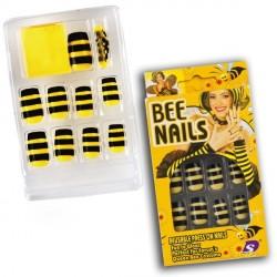 12-faux-ongles-d-abeille-jaunes-rayes-de-noir-et-adhesifs-guepe