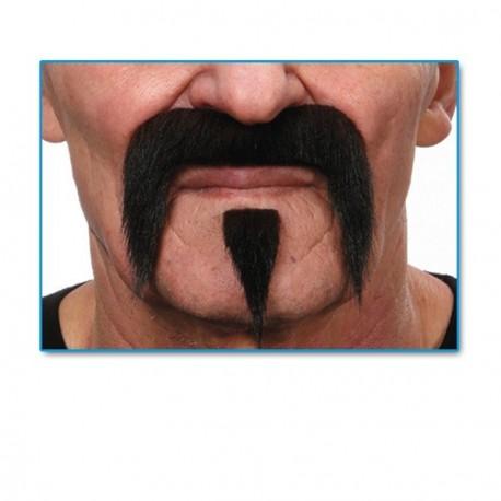 moustache-type-fer-a-cheval-noir-postiche-avec-mouche