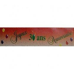 """Banderole """"Joyeux Anniversaire"""" 30 ans"""