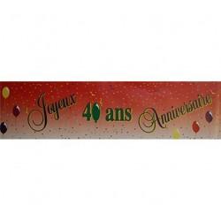 Guirlande Joyeux Anniversaire pour vos 40 ans Banderole