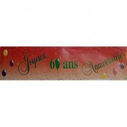 """Banderole """"Joyeux Anniversaire"""" 60 ans"""