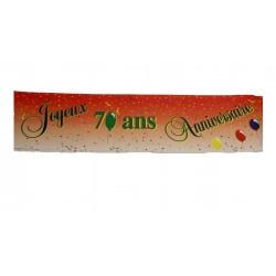 Guirlande Joyeux Anniversaire pour vos 70 ans Banderole