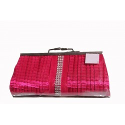 pochette-soiree-ceremonie-satin-plisse-rose-fuchsia-et-strass