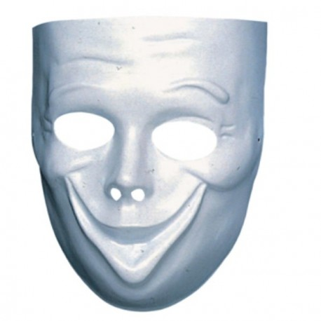 Masque Comédie Blanc Sourire Festi Fiesta