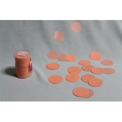 Confettis de scène en forme de ronds saumon 100 grammes
