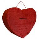 Urne bordeaux en forme de coeur ou à suspendre façon pignata pinata