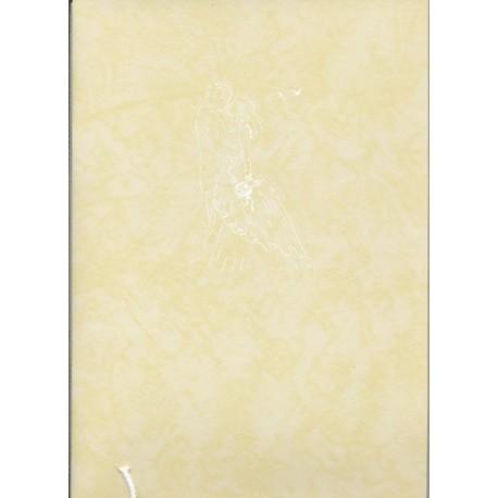 livre-d-or-jaune-pale-motif-couleur-blanche-maries-s-embrassant