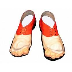 Sur chaussures de clown avec orteils en plastique clochard