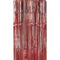 Rideau lamé rouge Rideau lamelles rouges Rideau de porte 2,41 m