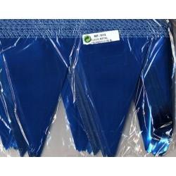 Guirlande PVC métallisée bleue 25 m pointe de 17 cm