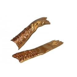 Gants dorés mi-longs plissés adulte