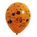 8 ballons de baudruche orange Halloween ø 29cm