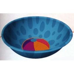 Petit bol exotique rond bleu avec un ballon
