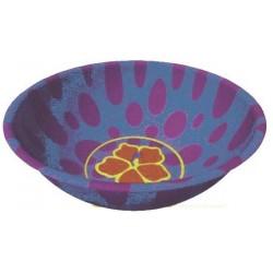 Petit bol exotique rond violet avec une fleur