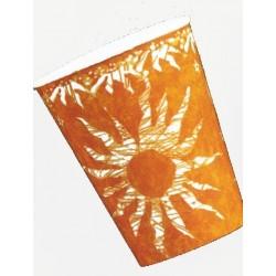"""10 Gobelets """"Soleil"""" orange cups décorés"""