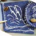 20 Serviettes de la Mer Dauphin blanc sur fond bleu 33 x 33 cm E