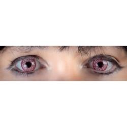 Lentilles de contact fantaisie iris sanglant injecté de sang zom Halloween