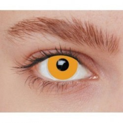 Lentilles de contact fantaisie iris orange uni Halloween