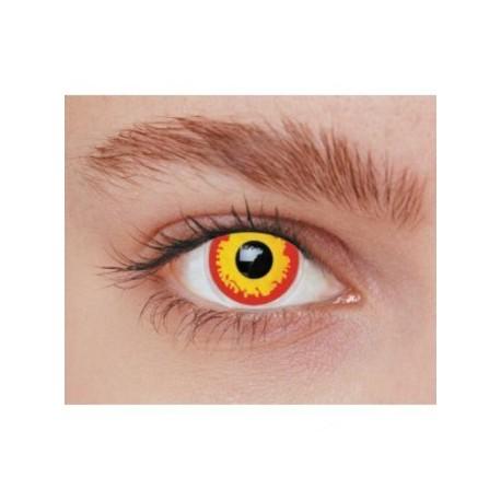 lentilles-de-contact-fantaisie-volcan-jaune-et-rouge-loup-garou