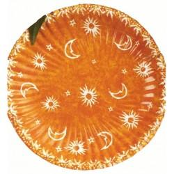 """10 petites assiettes """"Soleil lune et petites étoiles"""" ø 18cm"""