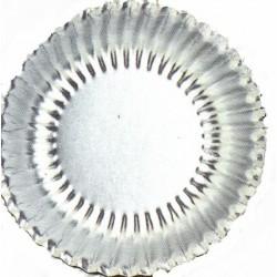 10 petites coupelles argent Ø 15 cm mini assiettes