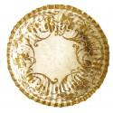 10 petites coupelles ivoire décors or Ø 14 cm mini assiettes