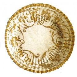 10-assiettes-plates-ecrues-decors-motifs-floraux-or-o-23-cm