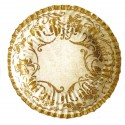 10 assiettes plates écrues décors motifs floraux or Ø 23 cm