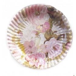 10 Grandes Assiettes Plates Fleurs Printanières Ø 29.5 cm