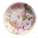 """10 petites assiettes plates """"Fleurs printanières"""" Ø 18.5 cm"""