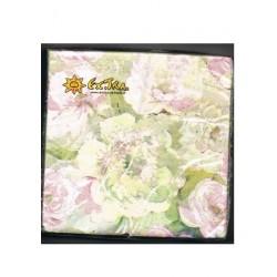 """20 serviettes """"Fleurs Printanières"""" 33 x 33 cm 3 plis"""