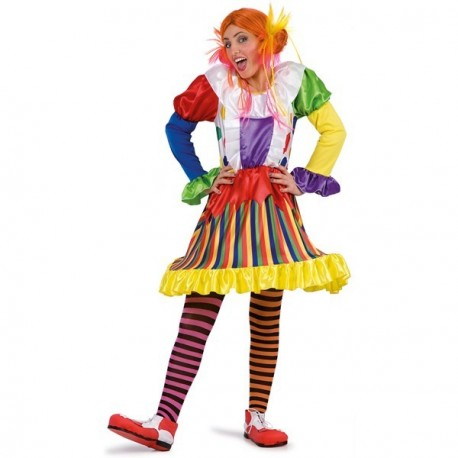 clown-fille-multicolore-en-jupe-a-cerceau