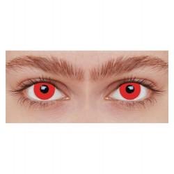 Lentilles de contact fantaisie iris rouge uni loup garou