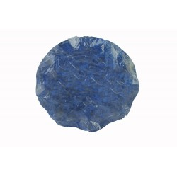 2 grands plats ronds bleus Ø 40 cm