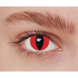 Lentilles de contact fantaisie oeil de chat rouge vipère rouge