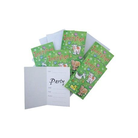 lot-de-6-cartes-d-invitation-enveloppes-animaux-de-la-ferme