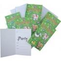 Lot de 6 cartes d'invitation + enveloppes animaux de la ferme