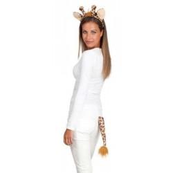 set-de-girafe-oreilles-et-queue-peluche-douce