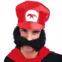 Moustache noire géante avec rouflaquettes intégrées